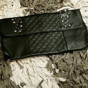 Handbags - Nwot Clutch blk purse w/ silver decor